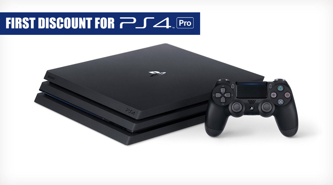 First PlayStation 4 Pro Discount Knocks $30 Off Before Black Friday