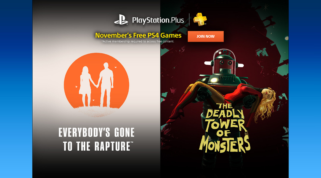 PlayStation Plus Free Games for November 2016 Revealed