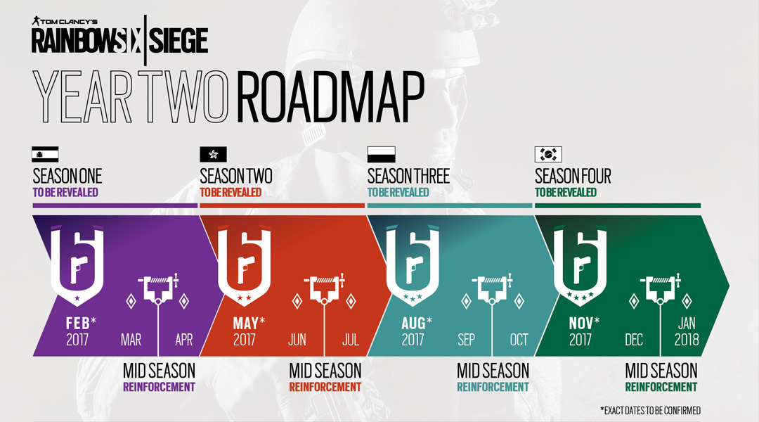 Rainbow Six Siege Year 2 Roadmap Revealed