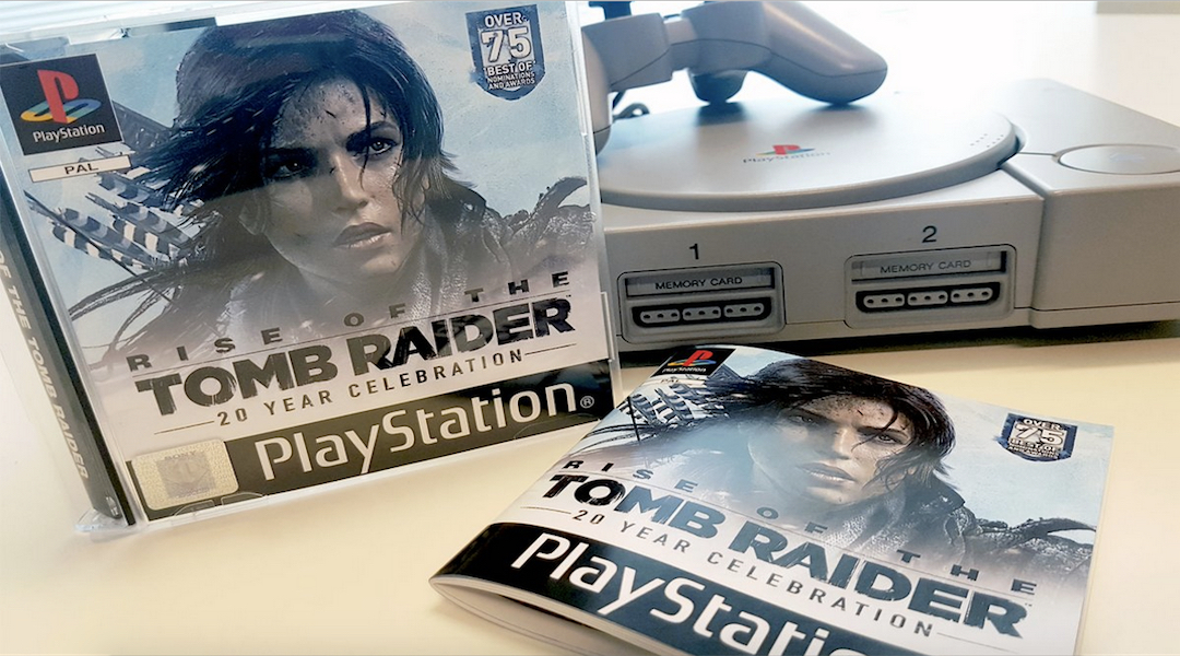 Check Out This PS1 Era Case for Rise of the Tomb Raider