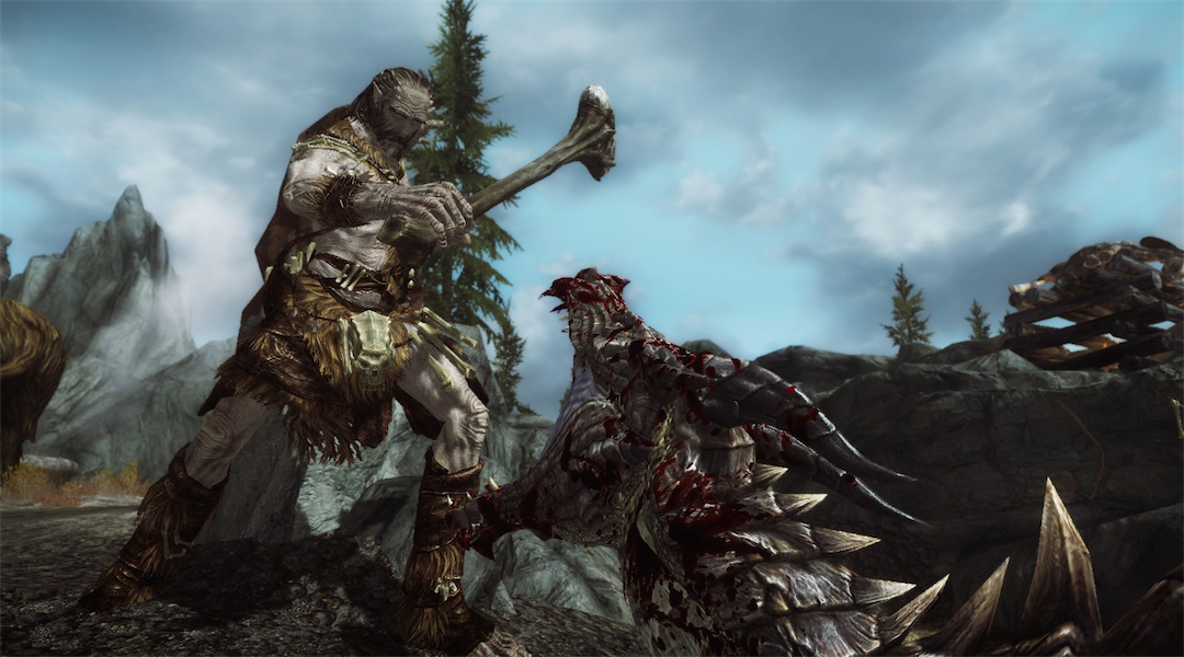 Skyrim: Special Edition Fan Creates Battle With 300 Giants vs 100 Dragons