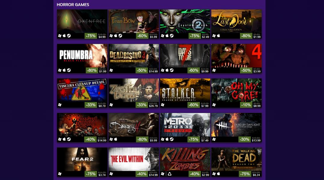 Steam Halloween Sale 2016 Begins, Ends Nov. 1