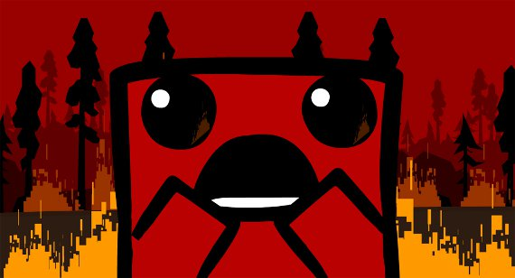 Super Meat Boy Reviews - Forest Fire