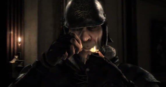 An unsuspecting guard from the Thief trailer