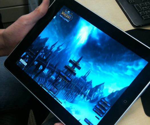 world of warcraft stream ipad