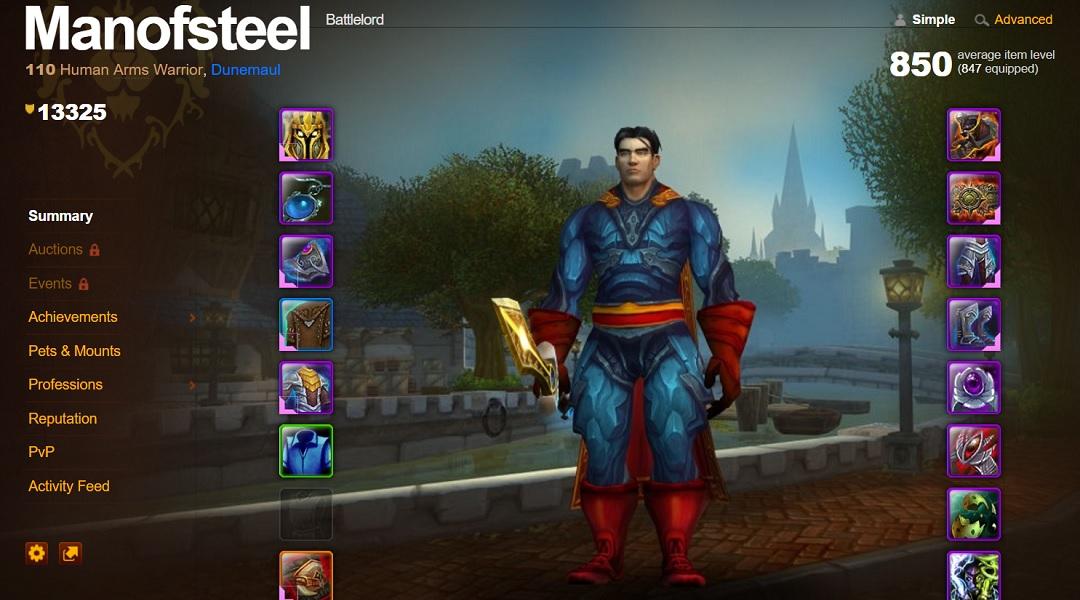 World of Warcraft Player Turns Avatar Into Superman