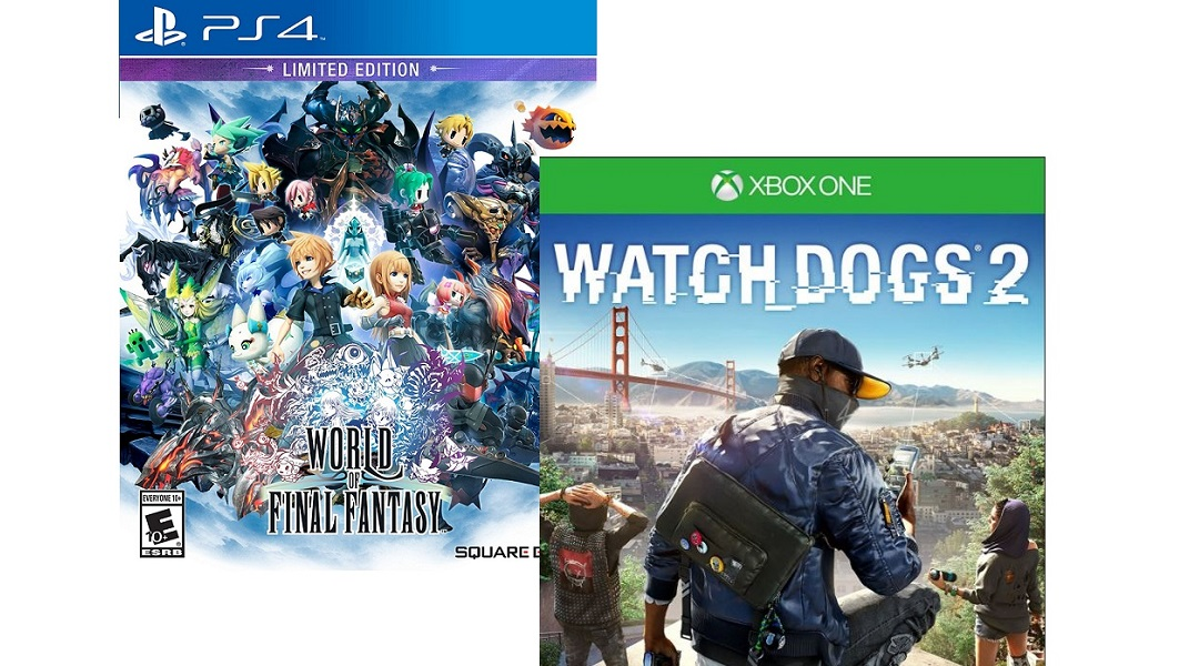 Buy 1, Get 1 40% Off Game Sale: Watch Dogs 2 and World of Final Fantasy